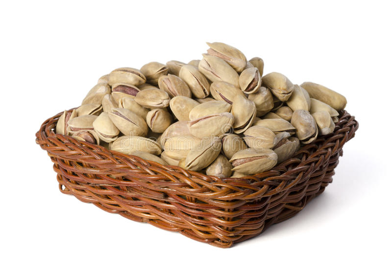 Pistachios In A Basket Stock Photography