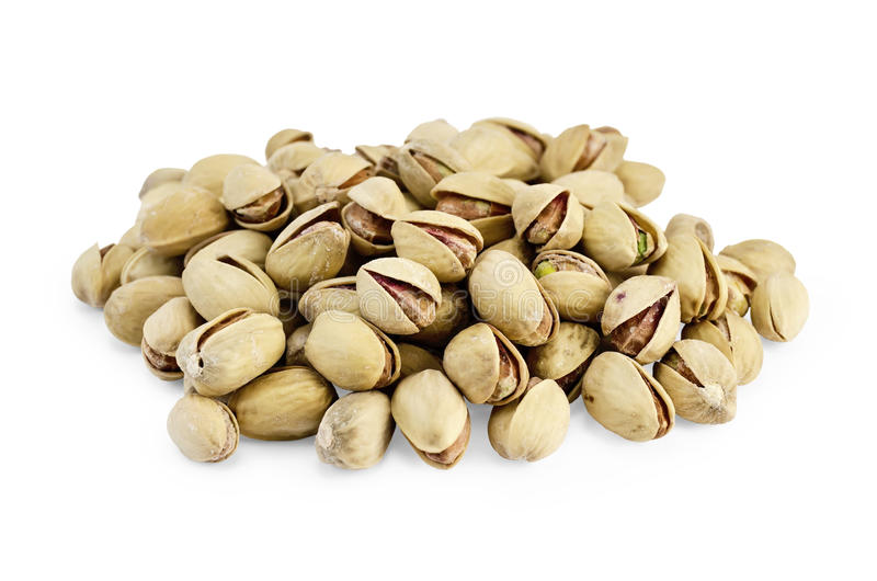 Pistachios Of Salt Are A Handful Stock Photo