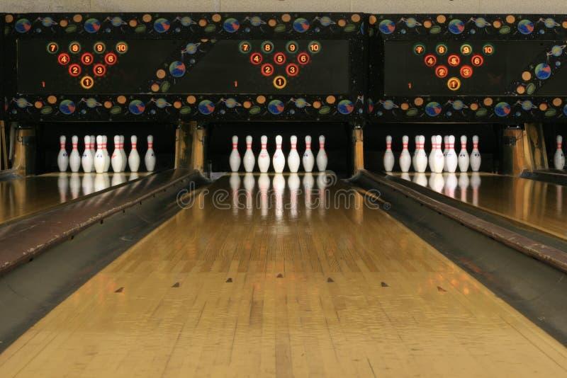 Pistas #3 do bowling fotografia de stock