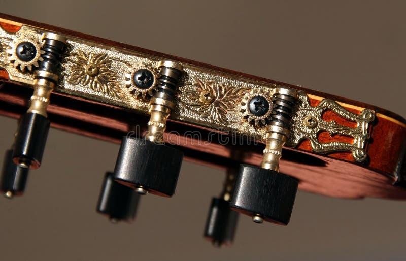 Pistas clásicas de la máquina de la guitarra imágenes de archivo libres de regalías