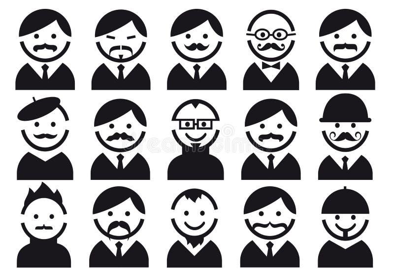 Pistas con los bigotes, conjunto del vector stock de ilustración