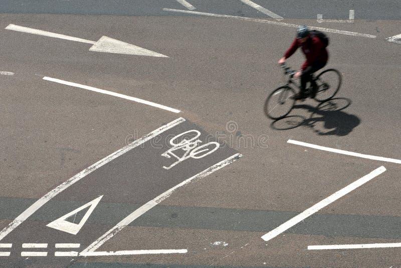 Pistas da bicicleta foto de stock royalty free