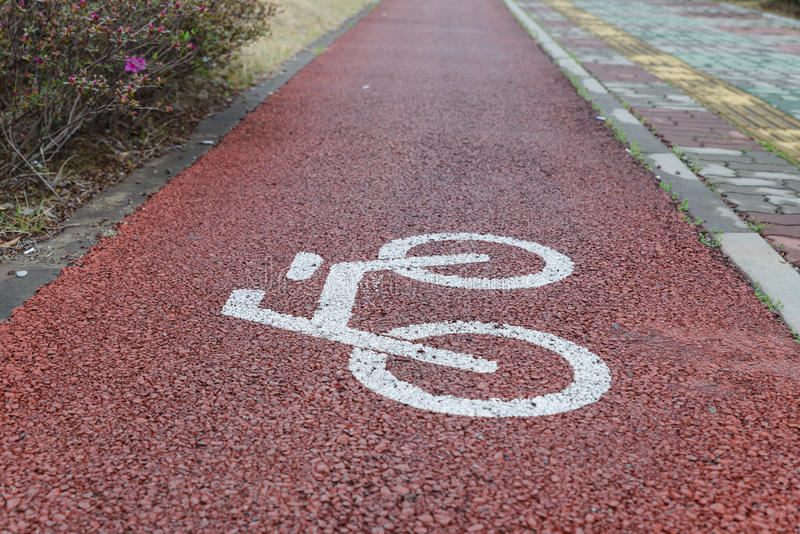Pistas da bicicleta fotos de stock royalty free
