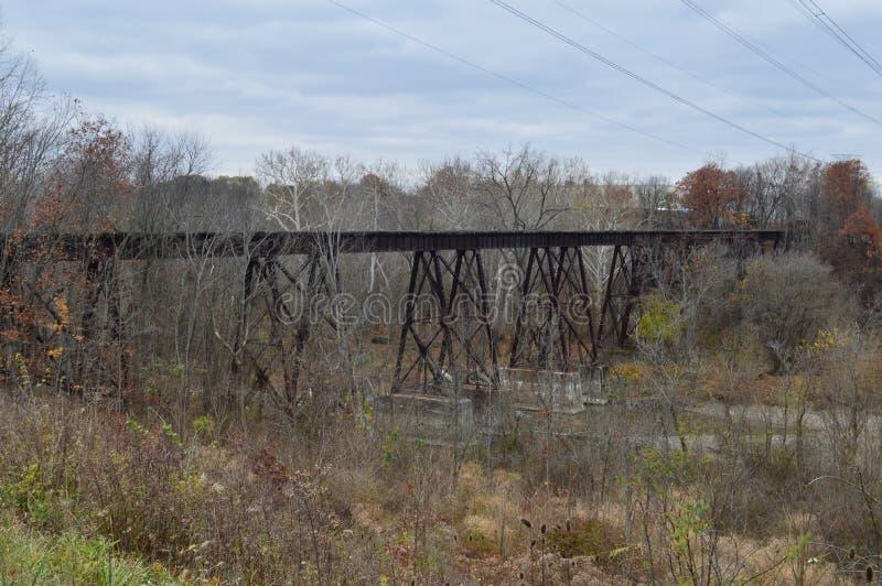 Pistas de ferrocarril abandonadas fotos de archivo