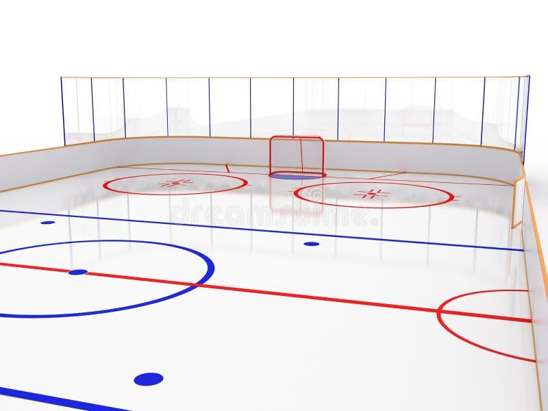 Pistas de gelo em uma superfície branca. #11 ilustração stock