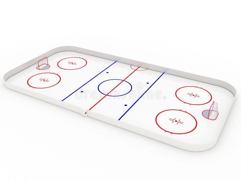 Pistas de hielo. hockey ilustración del vector