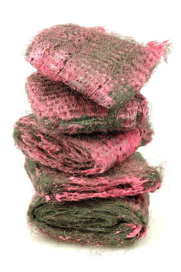 Pistas de jabón abrasivas de las lanas de acero fotos de archivo