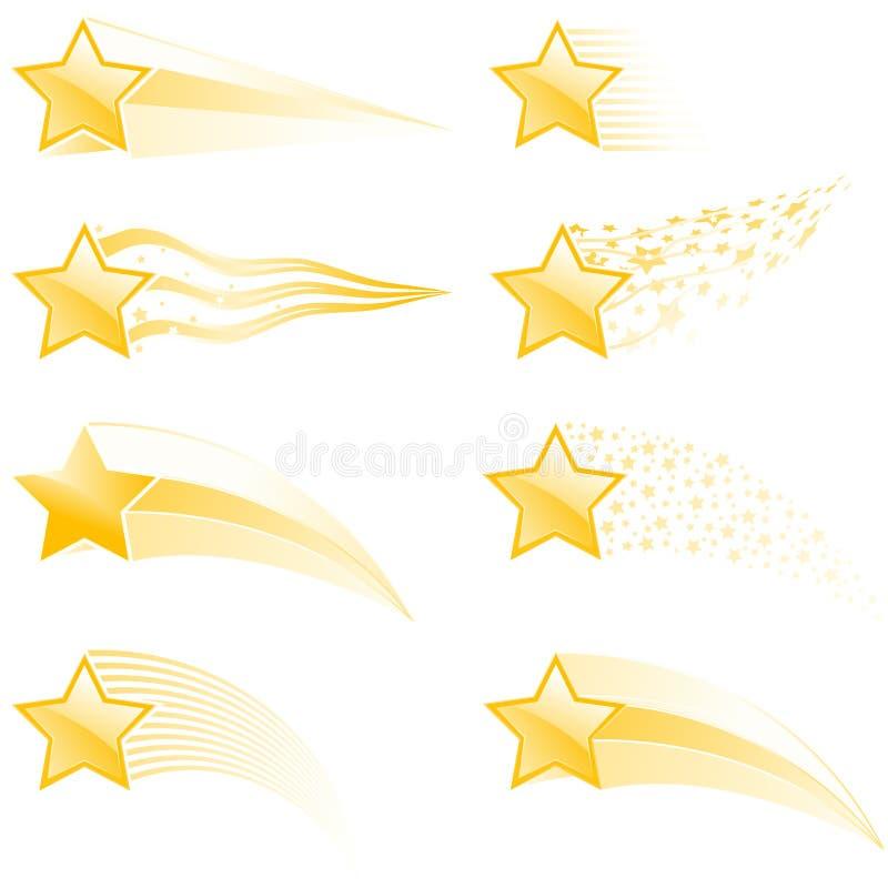 Pistas de la estrella ilustración del vector