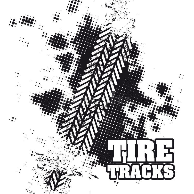 Pistas del neumático libre illustration