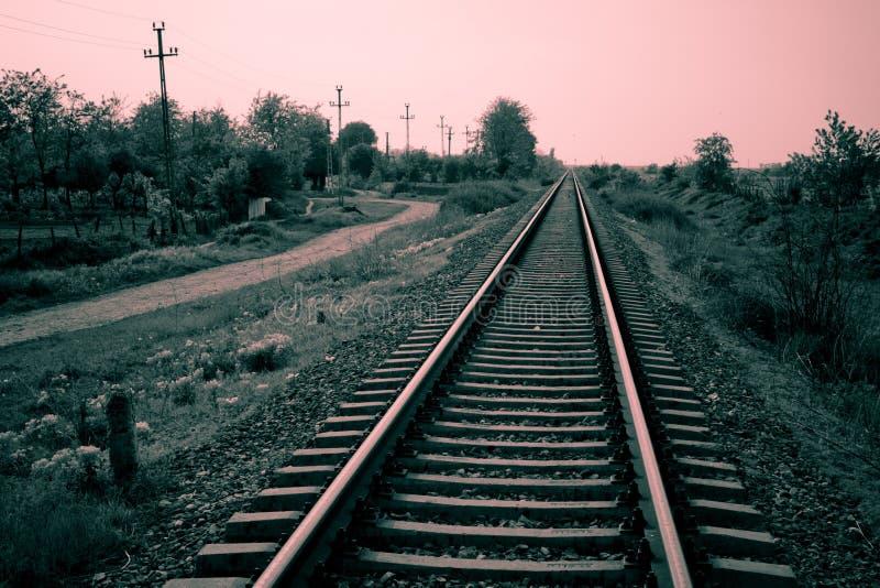 Pistas del tren fotos de archivo