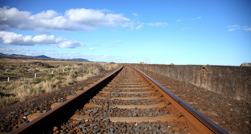 Pistas ferroviarias. imágenes de archivo libres de regalías