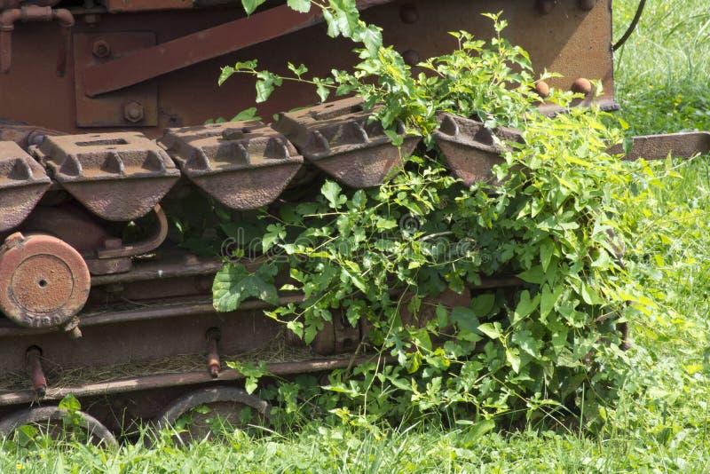 Pistas y malas hierbas foto de archivo