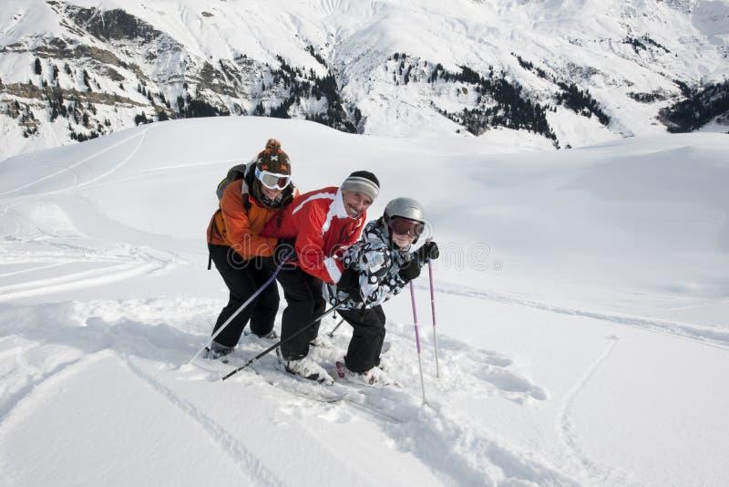 piste滑雪的系列 库存照片