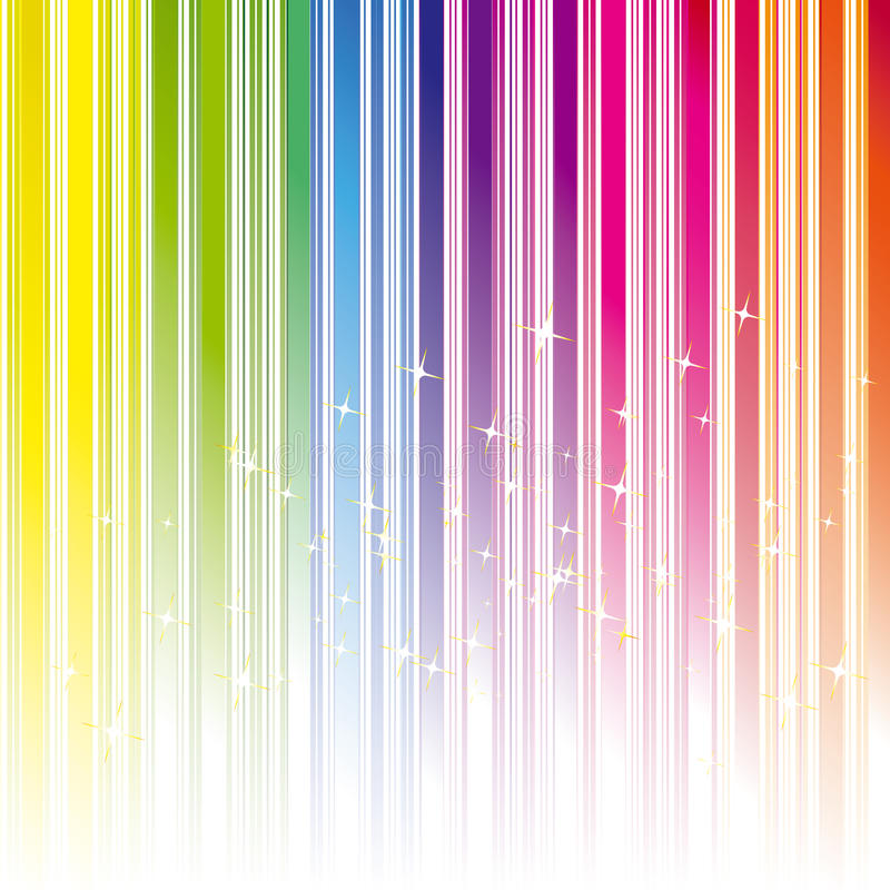Piste abstraite de couleur d'arc-en-ciel avec des étoiles illustration libre de droits
