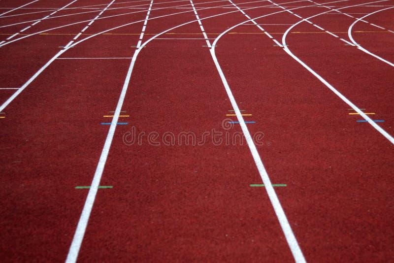Piste courante d'athlétisme photos stock