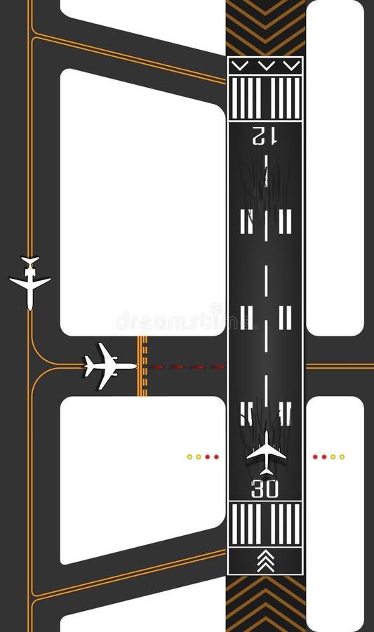 Piste d'avion avec des sorties illustration de vecteur
