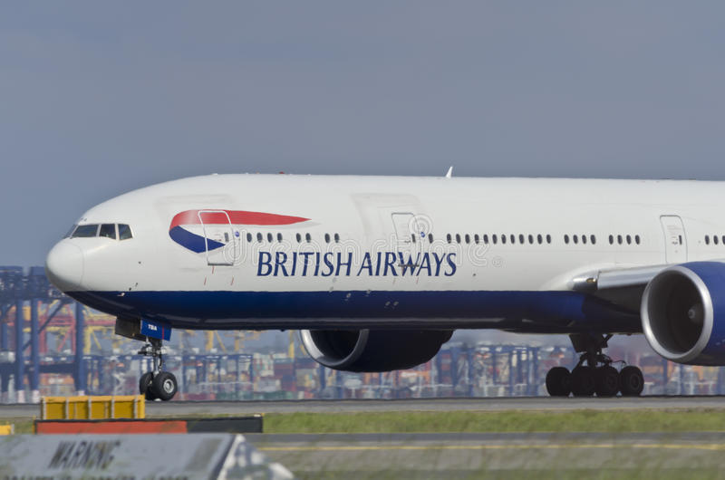 Piste d'avion de British Airways photo stock