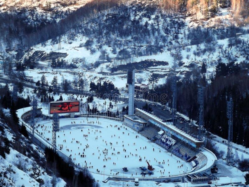 piste de patinage de Haut-montagne images stock