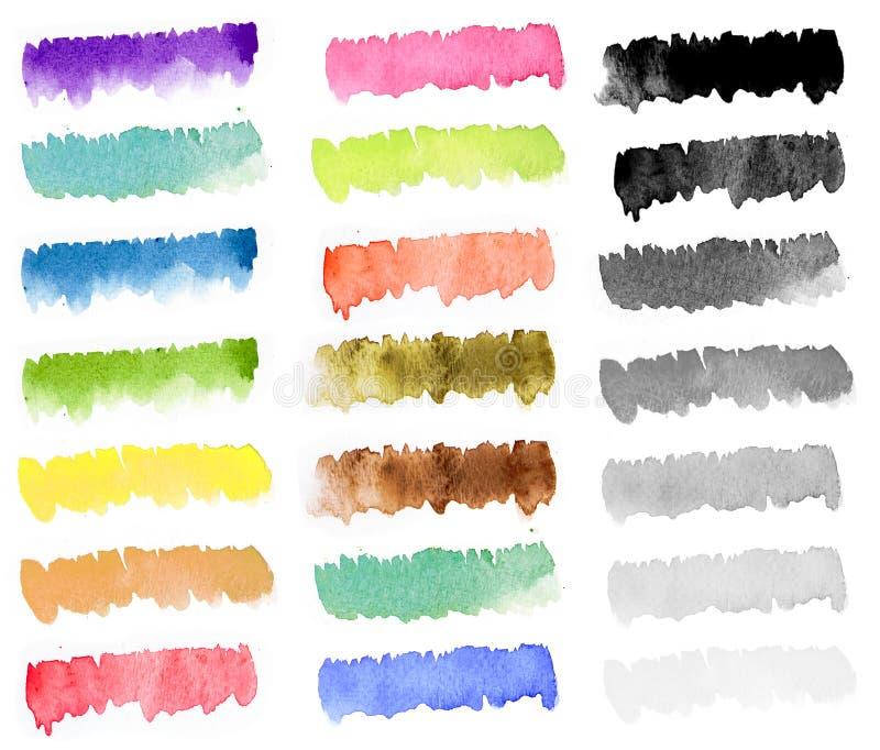 Piste de peinture d'aquarelle d'arc-en-ciel photos stock