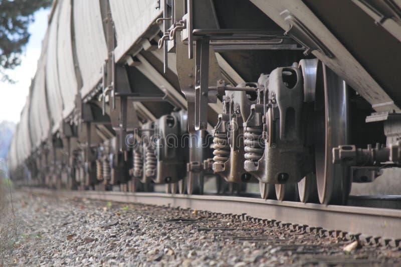Piste de rassemblement de roues de train photographie stock libre de droits