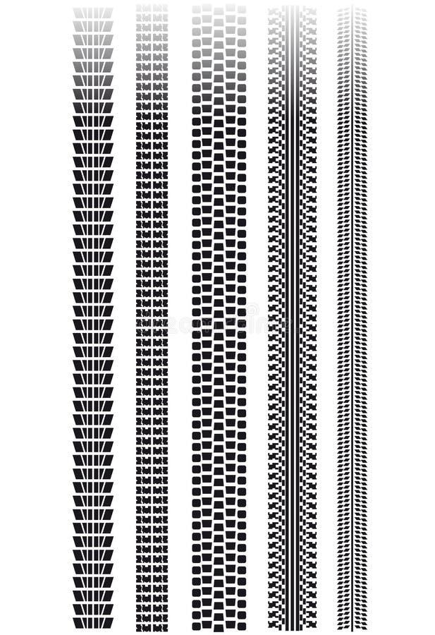 Piste del pneumatico illustrazione di stock