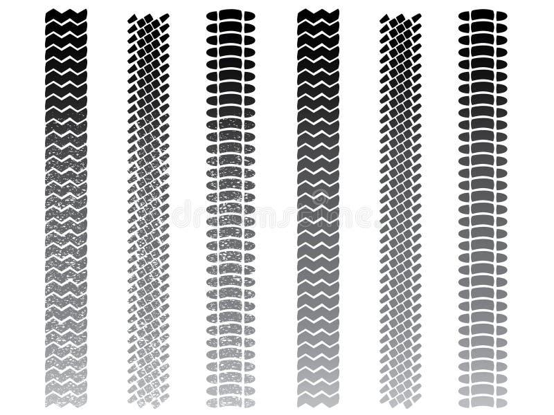 Piste del pneumatico illustrazione vettoriale