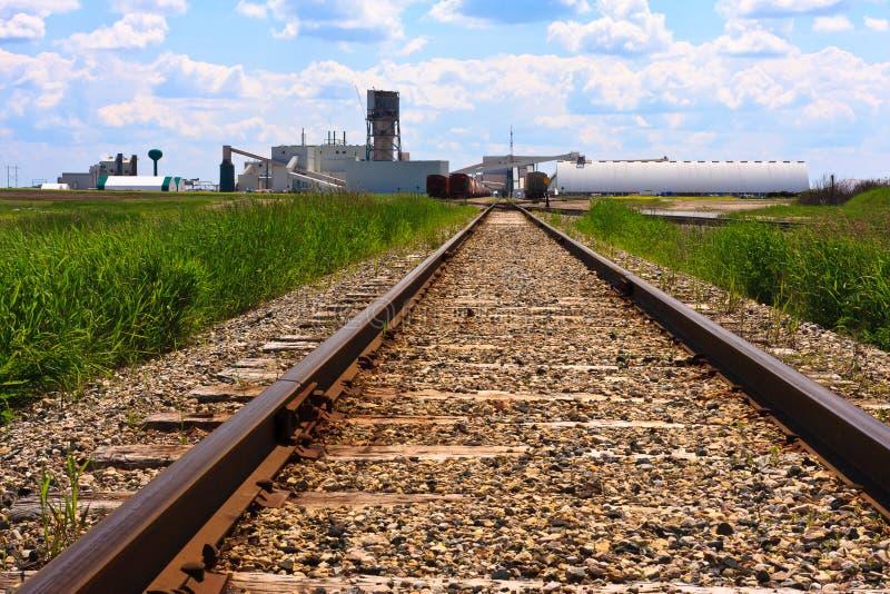 Piste del treno al luogo della miniera fotografie stock libere da diritti