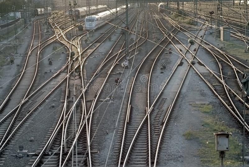 Piste del treno a Monaco di Baviera immagine stock libera da diritti