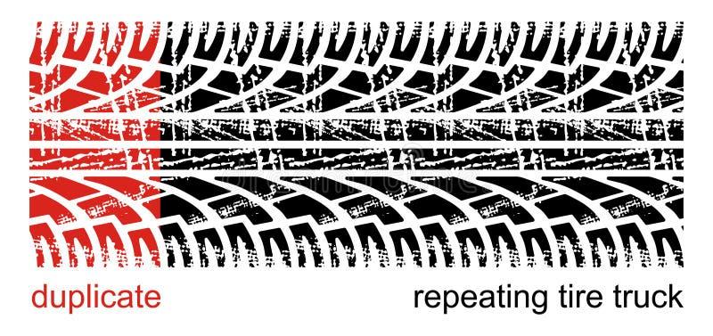 Piste della gomma illustrazione vettoriale