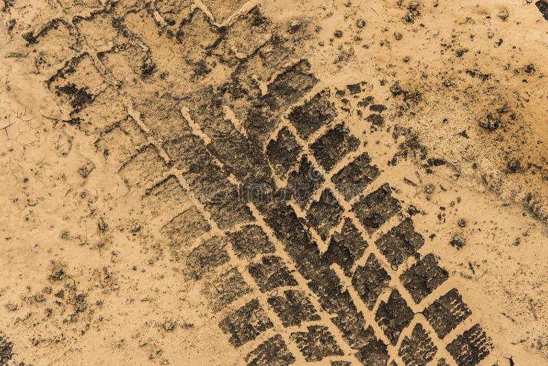 Piste della gomma in fango asciutto fotografia stock libera da diritti