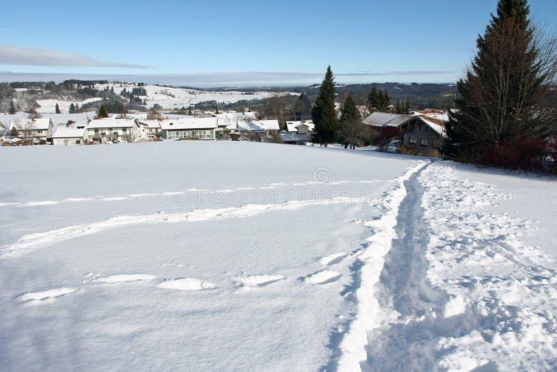 Piste nella neve immagini stock