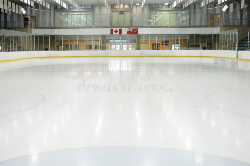 Piste vide d'hockey photo stock