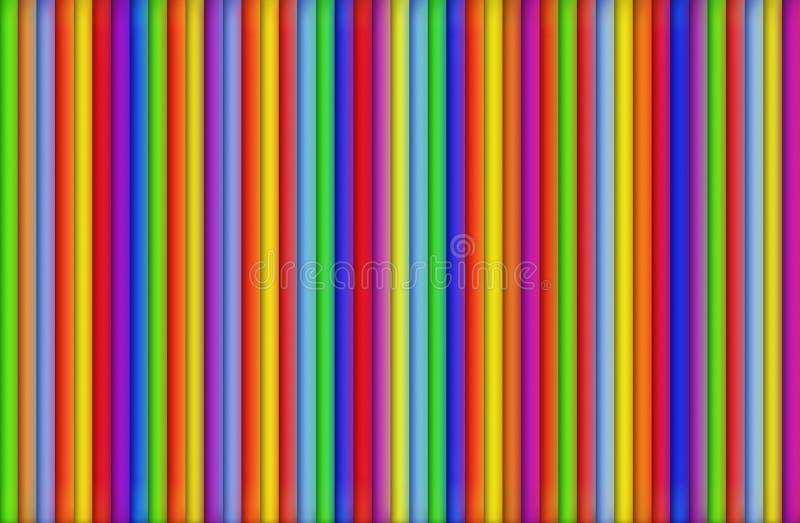 Pistes colorées illustration de vecteur