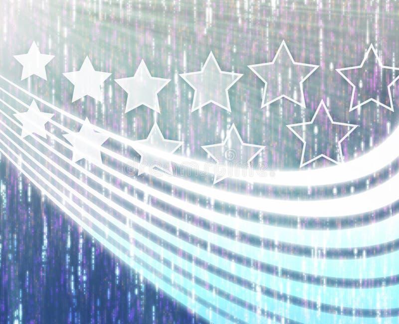 pistes d'étoiles illustration libre de droits