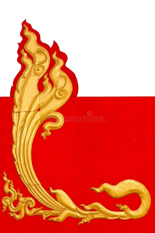 Pistes d'or semblables Thaïlande. image libre de droits