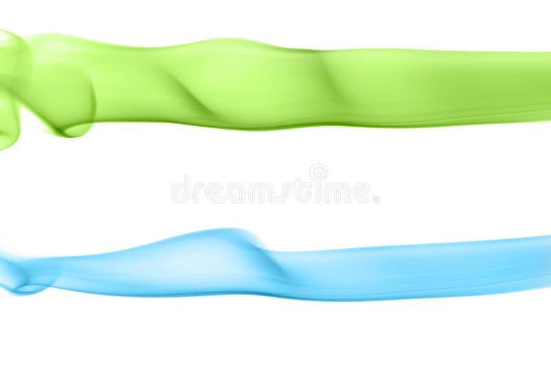 Pistes de fumée colorée illustration de vecteur