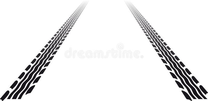 Pistes de pneu illustration de vecteur