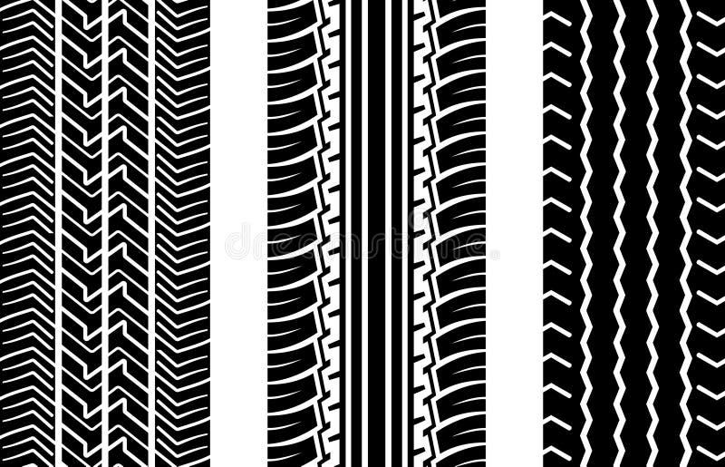Pistes de pneu illustration libre de droits