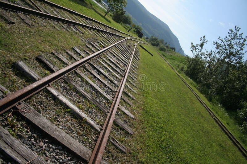 Pistes de train photographie stock libre de droits