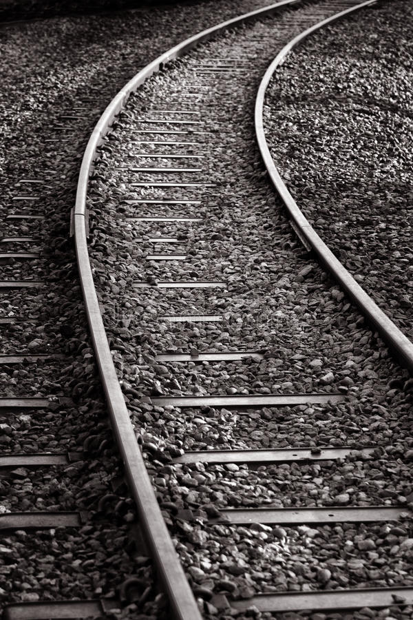 Pistes de train image stock