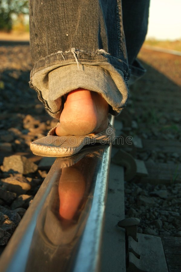 Pistes De Train Images libres de droits