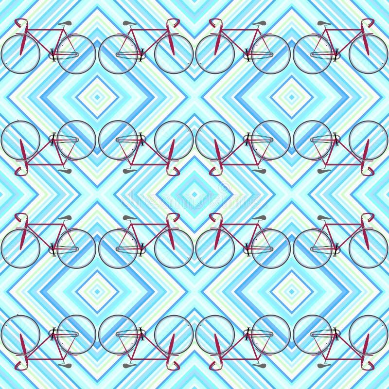 Pistes et bicyclettes illustration stock