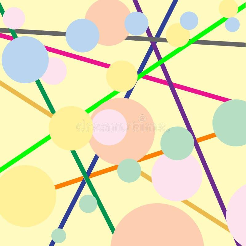 Pistes et bulles illustration stock