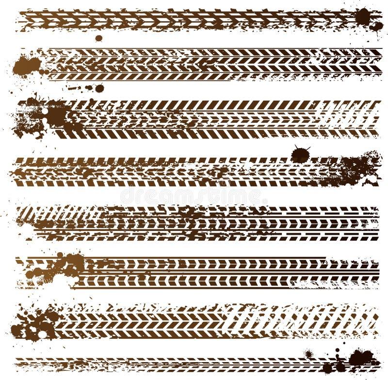 Pistes modifiées de pneu illustration de vecteur