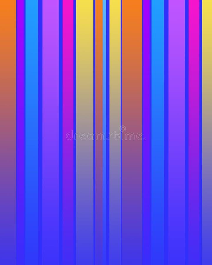 Pistes multi de couleur illustration de vecteur