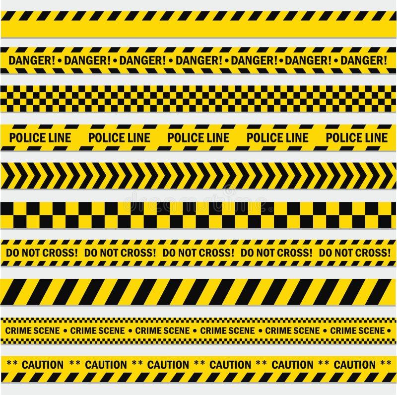 Pistes noires et jaunes illustration libre de droits