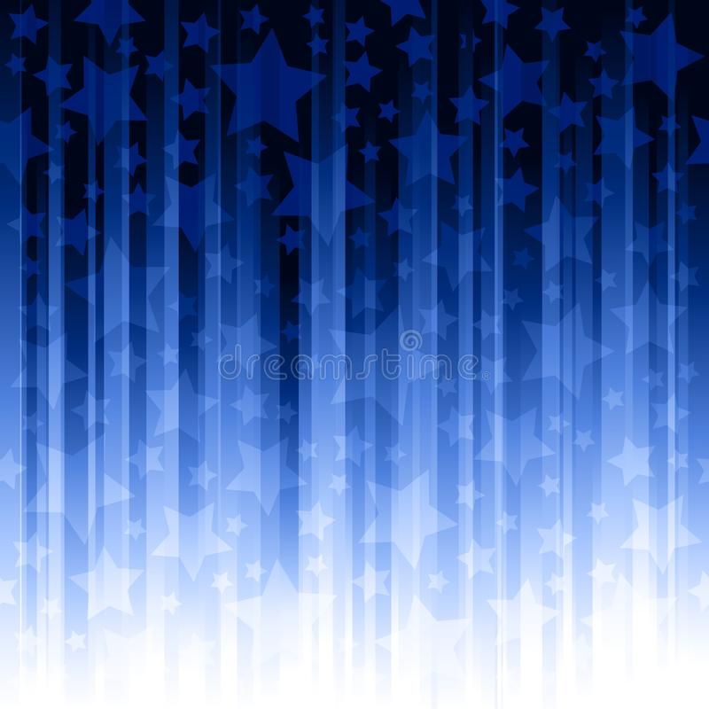 Pistes verticales bleues avec des étoiles illustration de vecteur