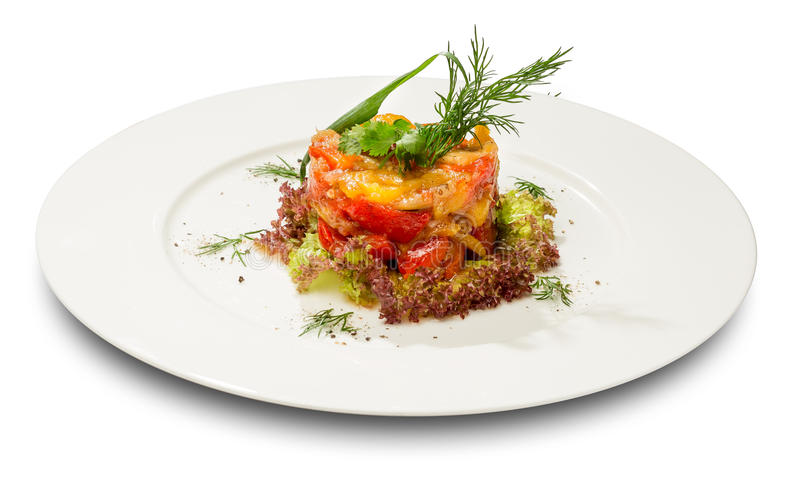 Pisto, spanish vegetable stew royalty free stock image