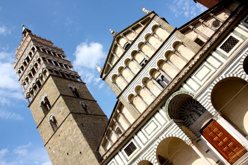 Pistoia cathedral, Tuscany, Italy. A view of the cathedral of Pistoia in Tuscany, Italy royalty free stock images