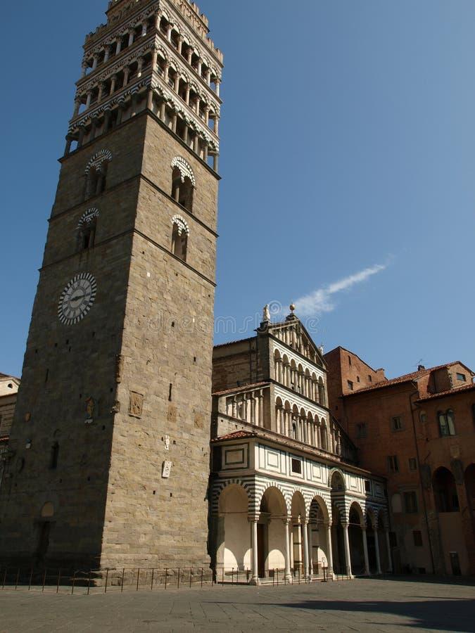 Pistoia - Duomo. Cathedral St Zeno's - Pistoia, Tuscany Italy stock photo